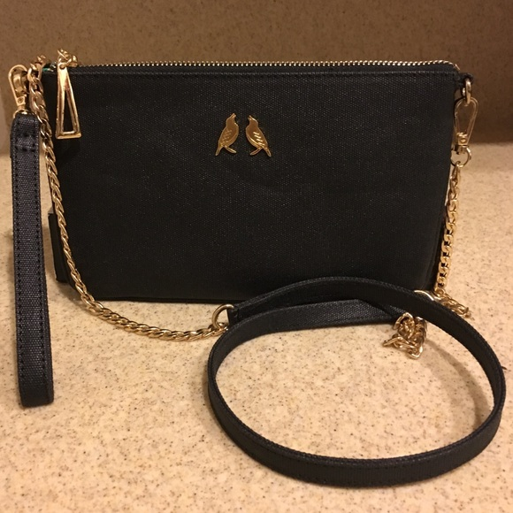 13279093b26d starling & ivy Bags | New Black Crossbody Wristlet Gold Chain | Poshmark